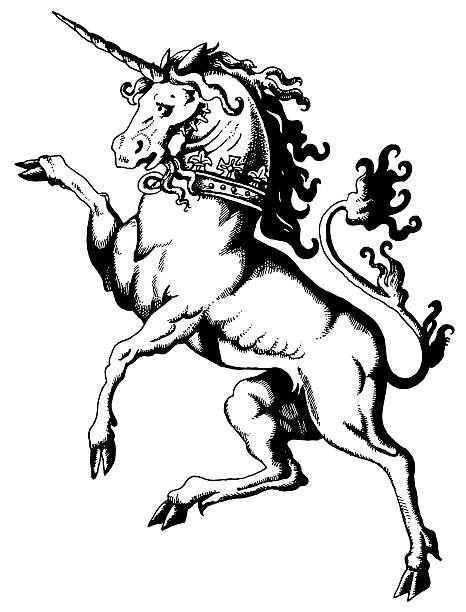 Unicorn Lineart Drawing Clip Art Vector Images Illustrations