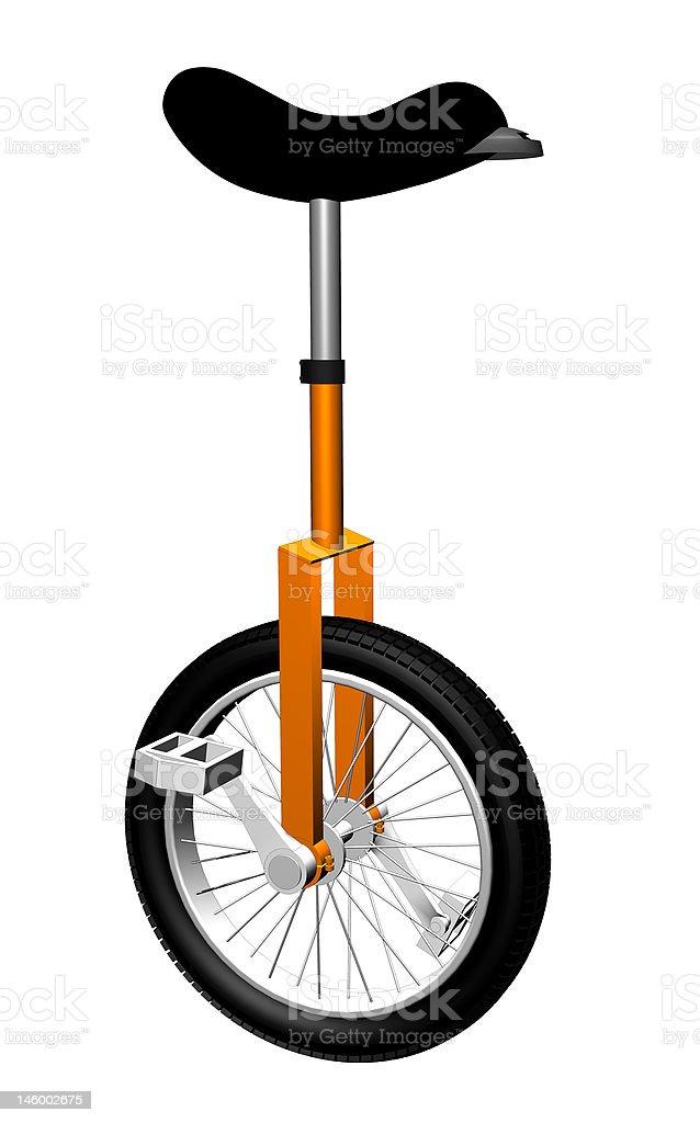 Unicycle vector art illustration