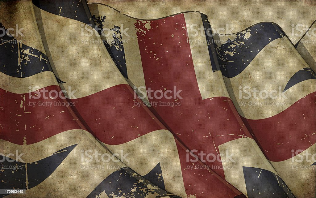 Union Jack 1606–1801 (The King's Colours) Old Paper royalty-free stock vector art