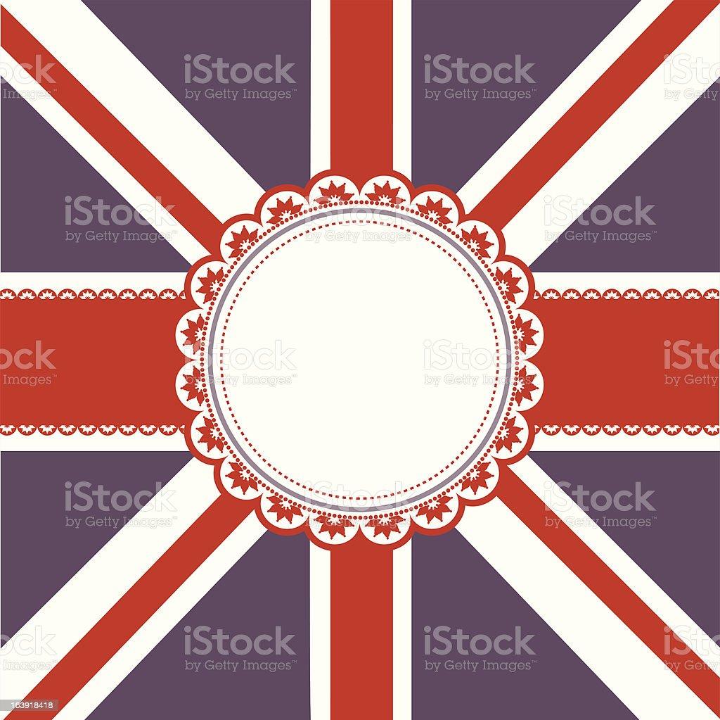 Union Jack Flag background royalty-free stock vector art