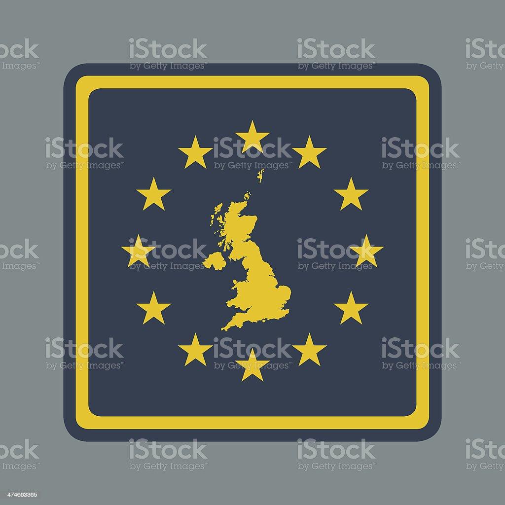 United Kingdom European flag button royalty-free stock vector art