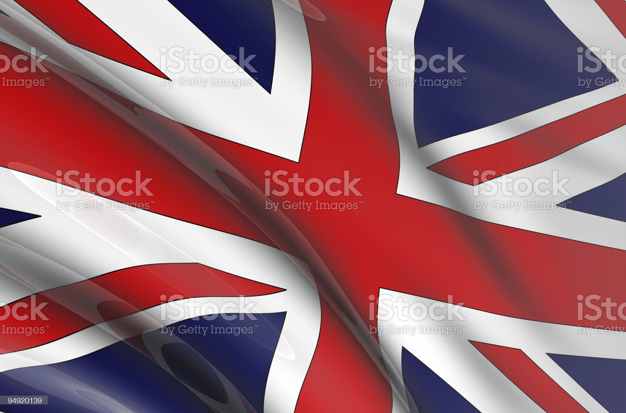 United Kingdom flag 3D royalty-free stock vector art