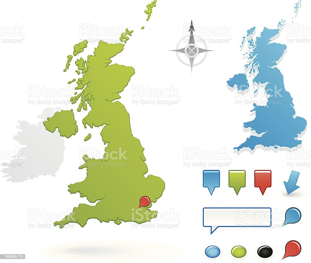 United Kingdom royalty-free stock vector art
