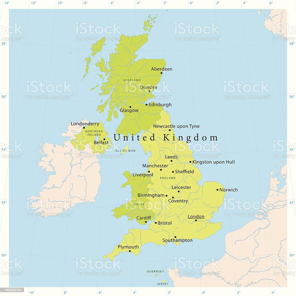 United Kingdom Vector Map vector art illustration