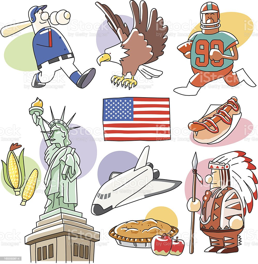 United States Clip arts royalty-free stock vector art