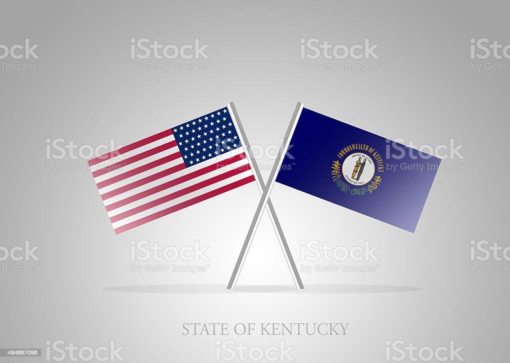 United States of America State of Kentucky Mini Flag Series vector art illustration