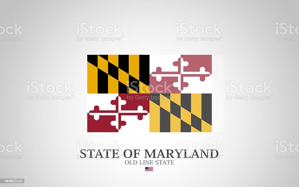 United States of America State of Maryland Flag Series vector art illustration