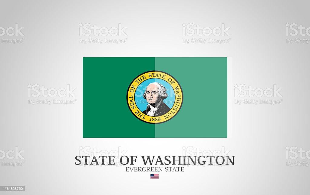 United States of America State of Washington Flag Series vector art illustration
