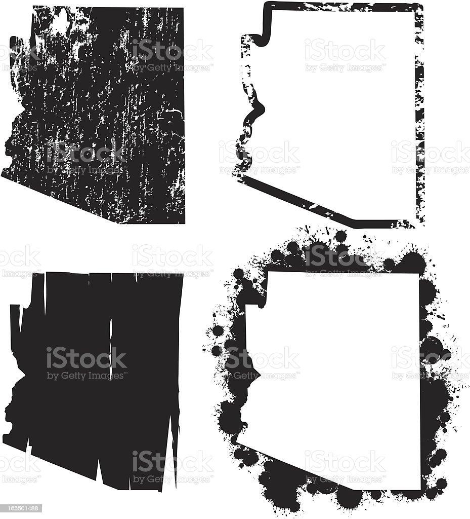 United States of Grunge - Arizona royalty-free stock vector art