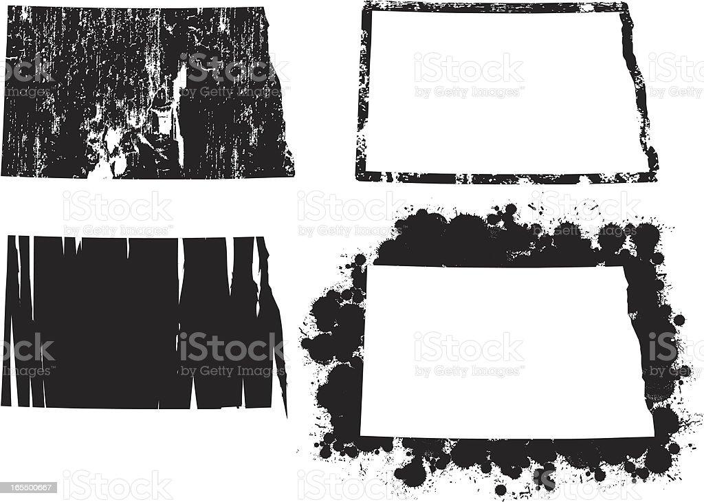United States of Grunge - North Dakota royalty-free stock vector art