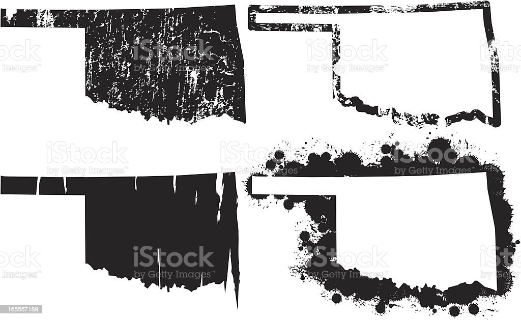 United States of Grunge - Oklahoma vector art illustration