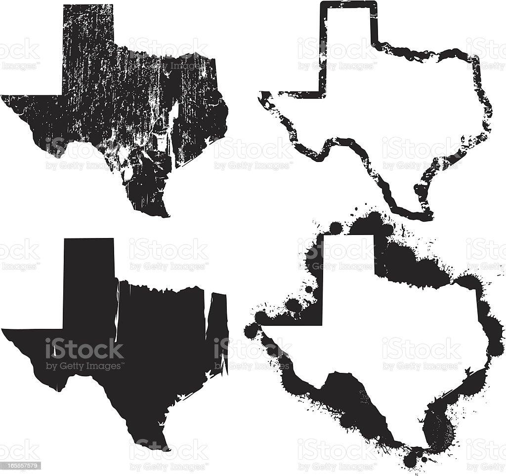 United States of Grunge - Texas vector art illustration