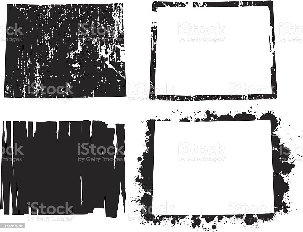 United States of Grunge - Wyoming royalty-free stock vector art