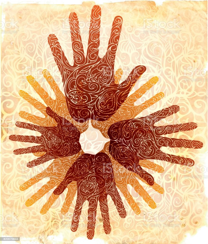 unity consciousness vector art illustration