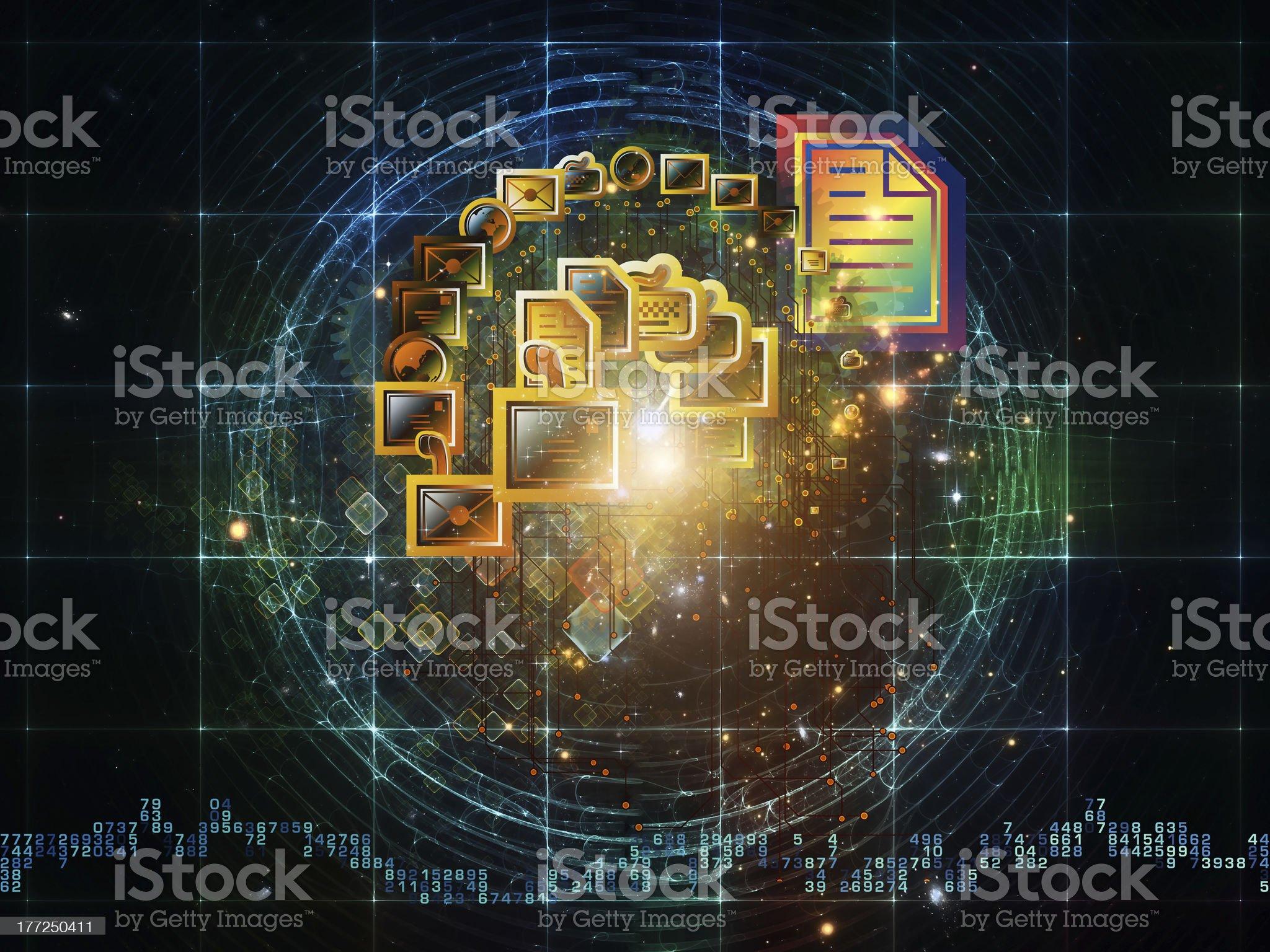 Universal messaging royalty-free stock vector art