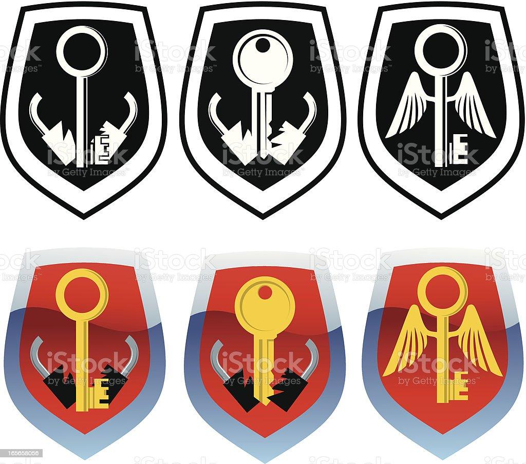 Unlock icons royalty-free stock vector art