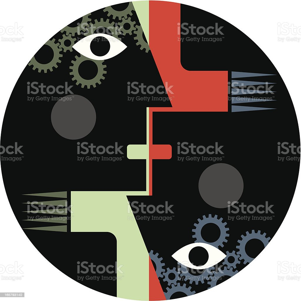 Upside down head royalty-free stock vector art