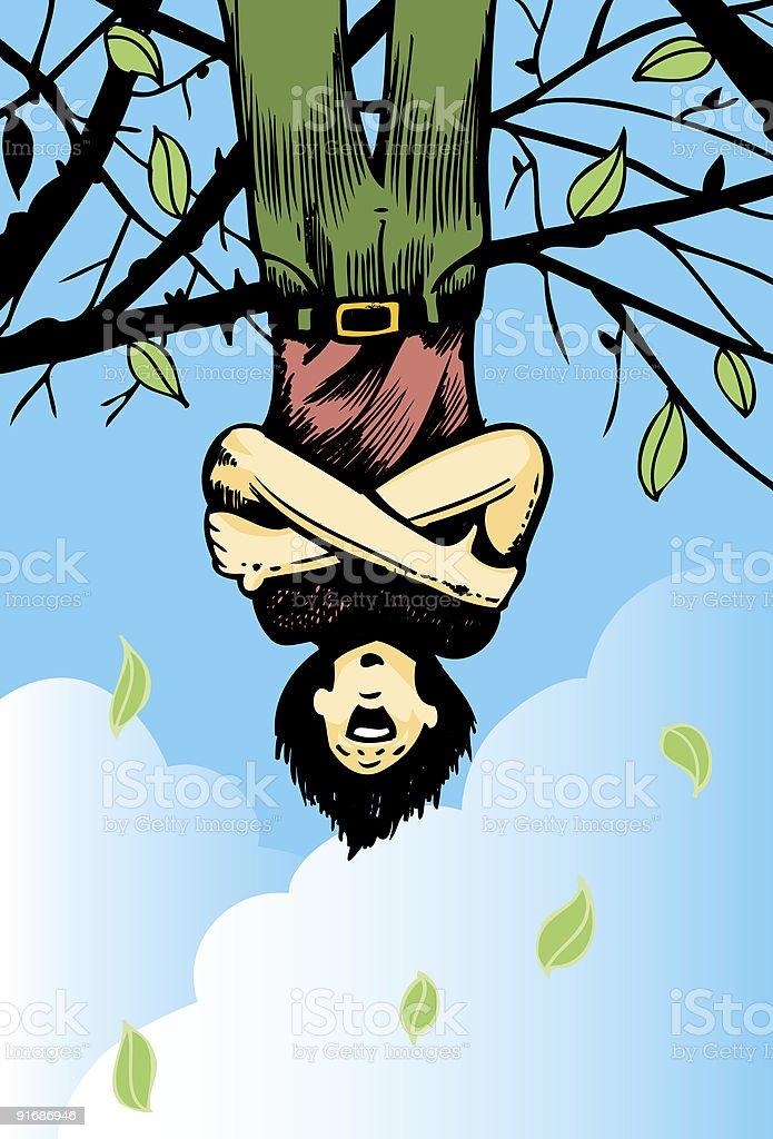 Upsidedown tree lover royalty-free stock vector art