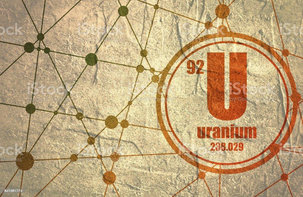Uranium chemical element. vector art illustration