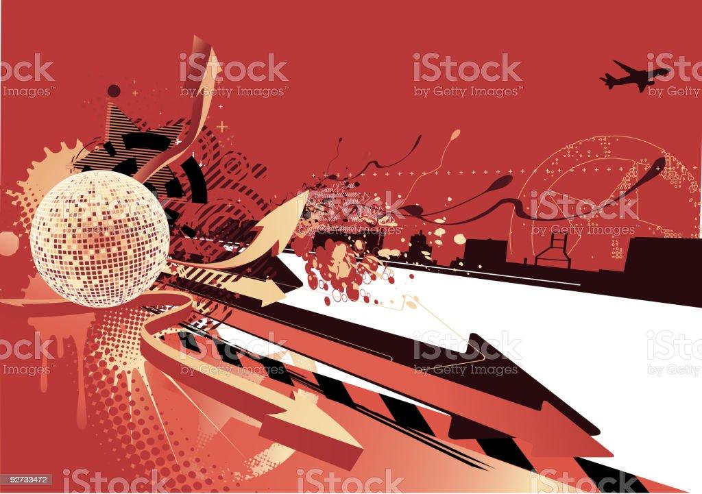 urban background royalty-free stock vector art
