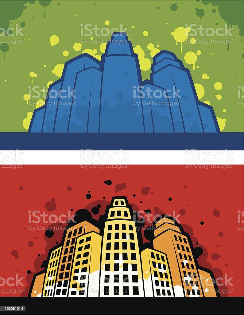 Urban buildings royalty-free stock vector art