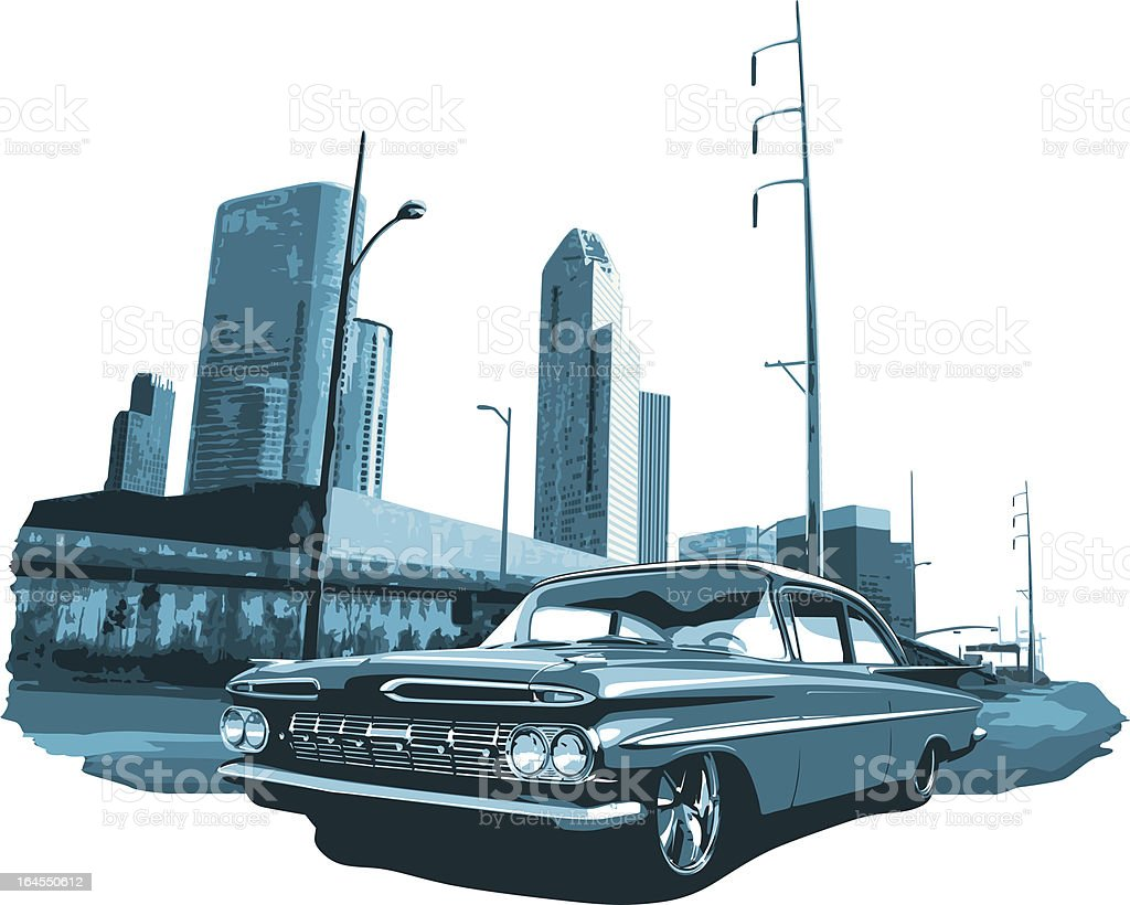 Urban Lowrider vector art illustration