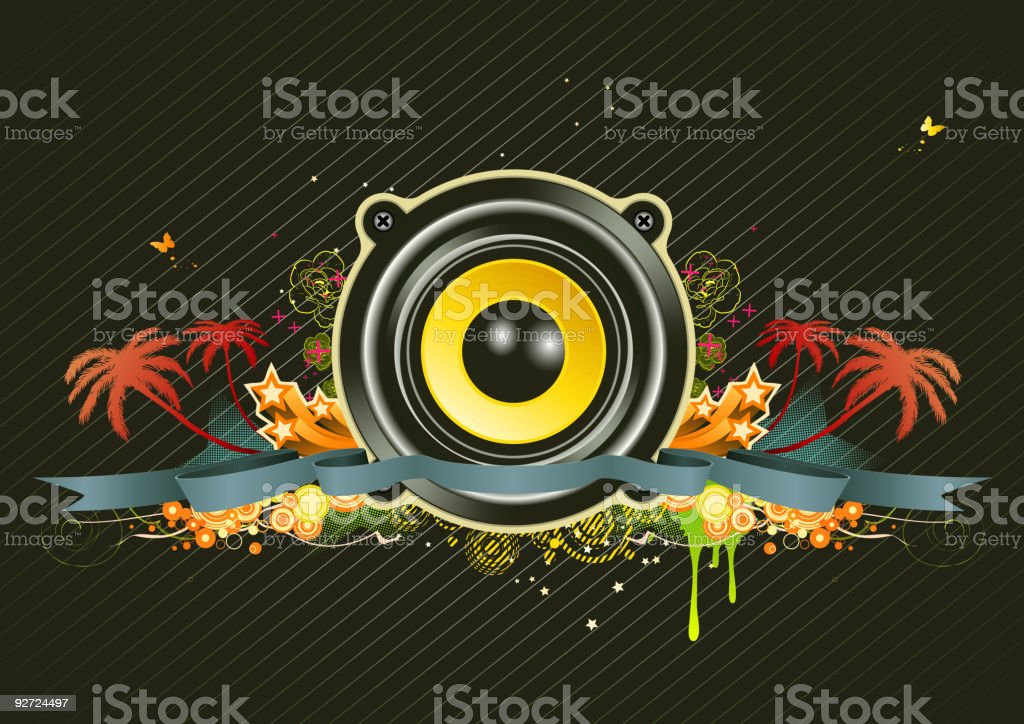 urban music background royalty-free stock vector art