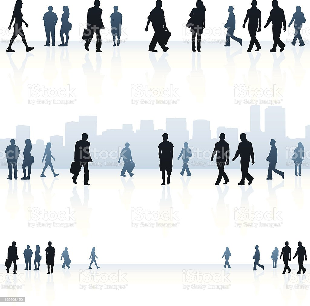 Urban people backgrounds vector art illustration