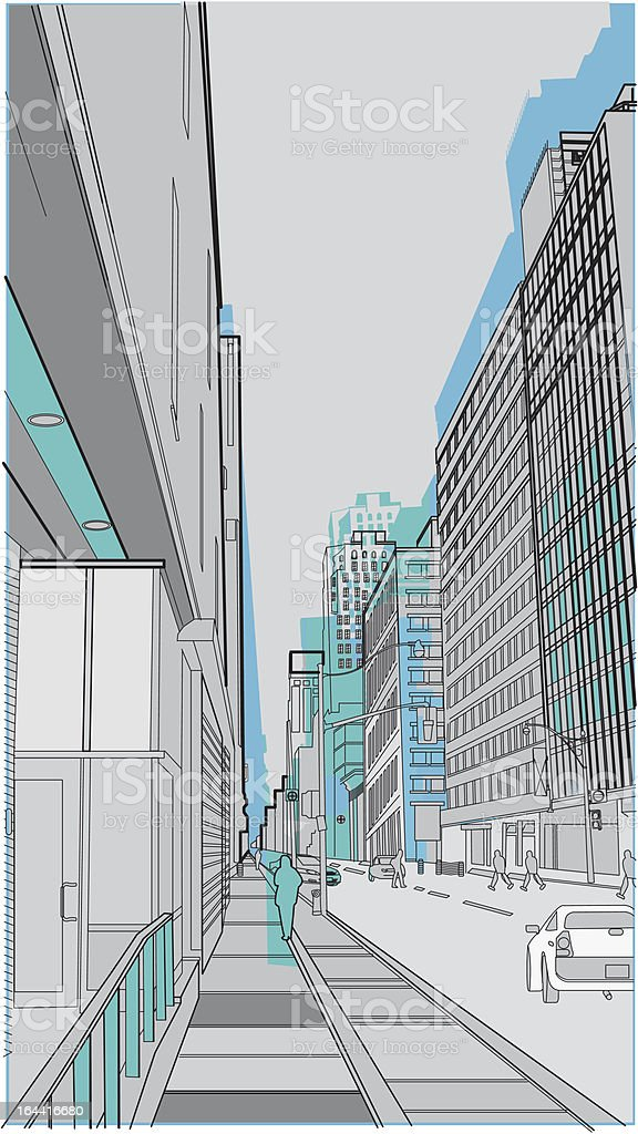 urban scene royalty-free stock vector art