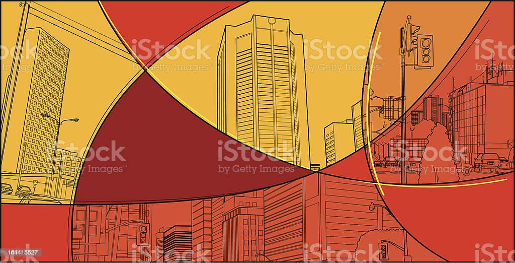 urban scenery collage royalty-free stock vector art