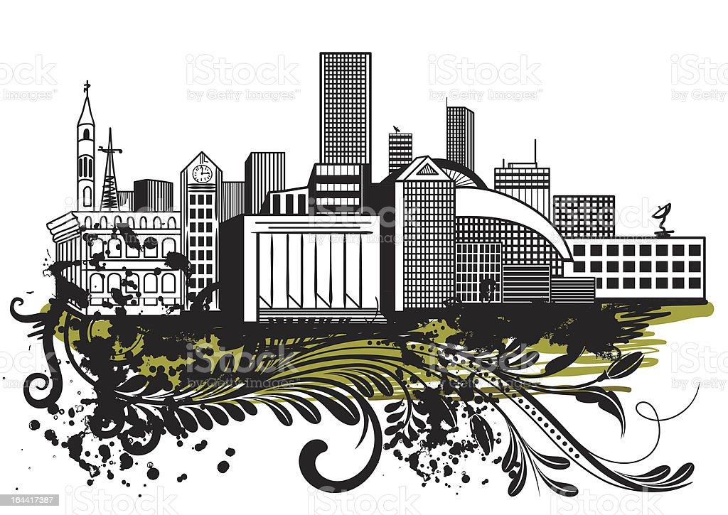 Urban Sketch royalty-free stock vector art
