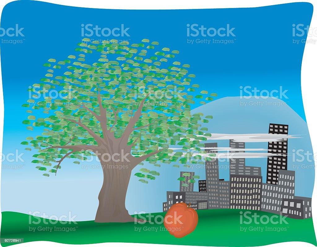 Urban Sprawl vector art illustration