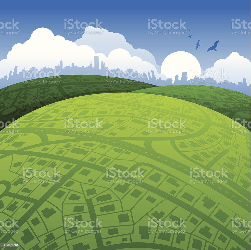 Urban World Background royalty-free stock vector art
