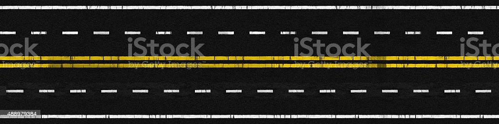Used Road vector art illustration