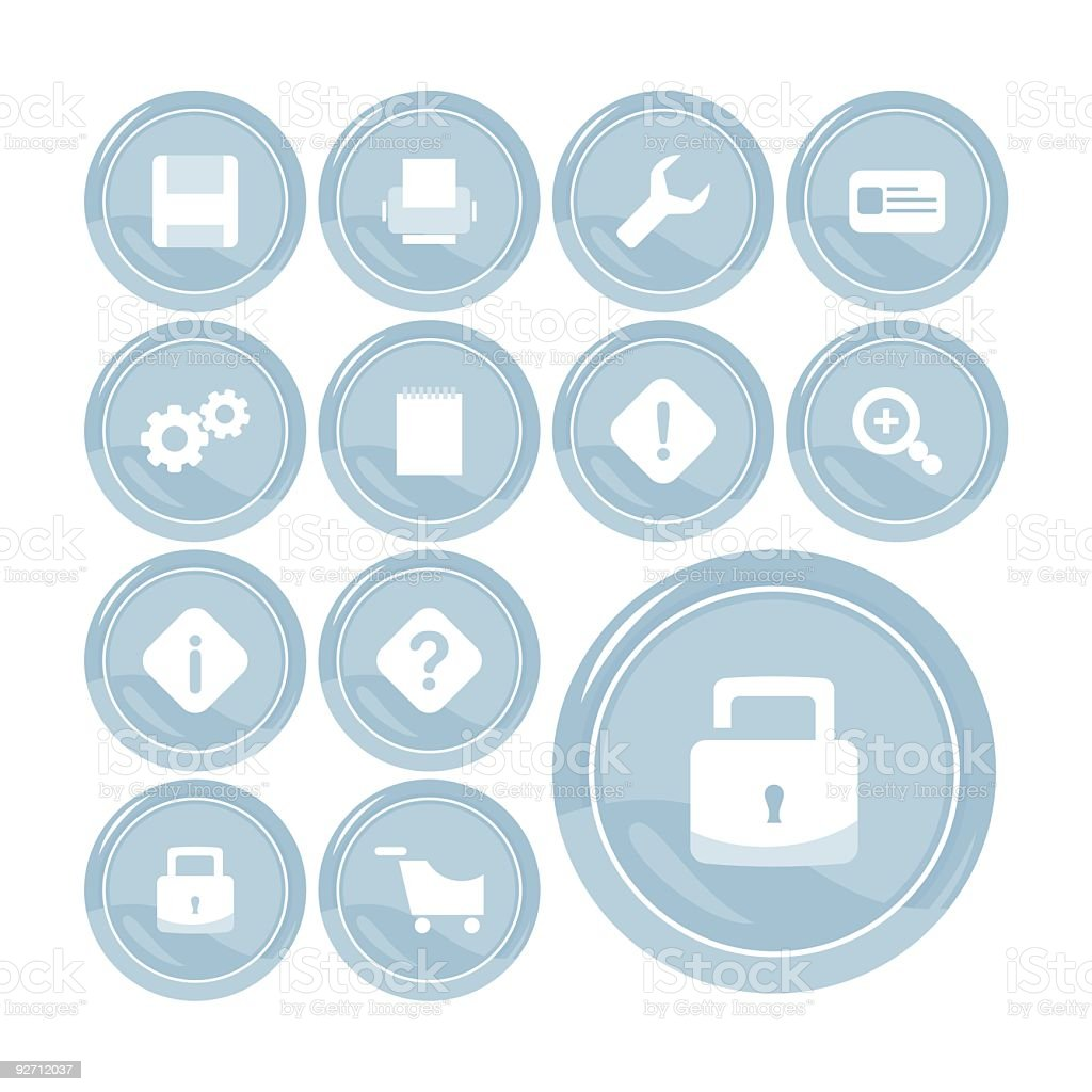 Useful Icon Set royalty-free stock vector art