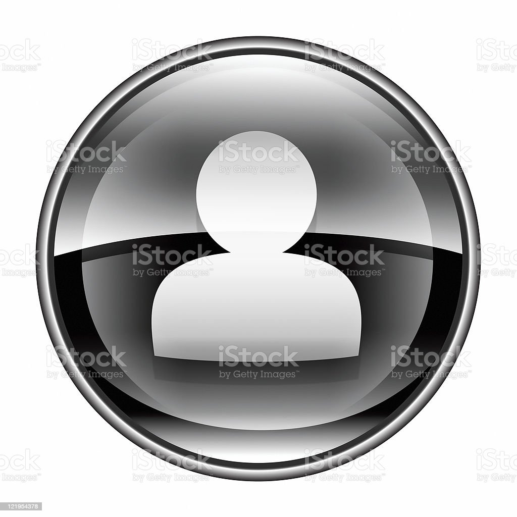 User icon black, isolated on white background royalty-free stock vector art