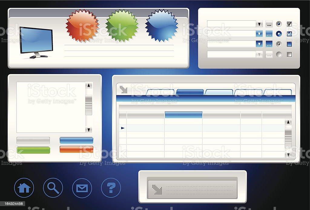 User Interface Construction Set royalty-free stock vector art
