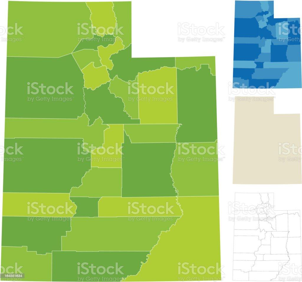 Utah County Map royalty-free stock vector art
