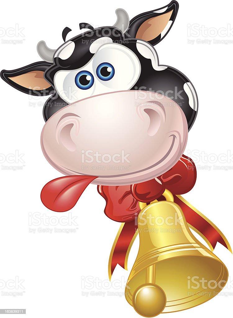Vaca Feliz royalty-free stock vector art