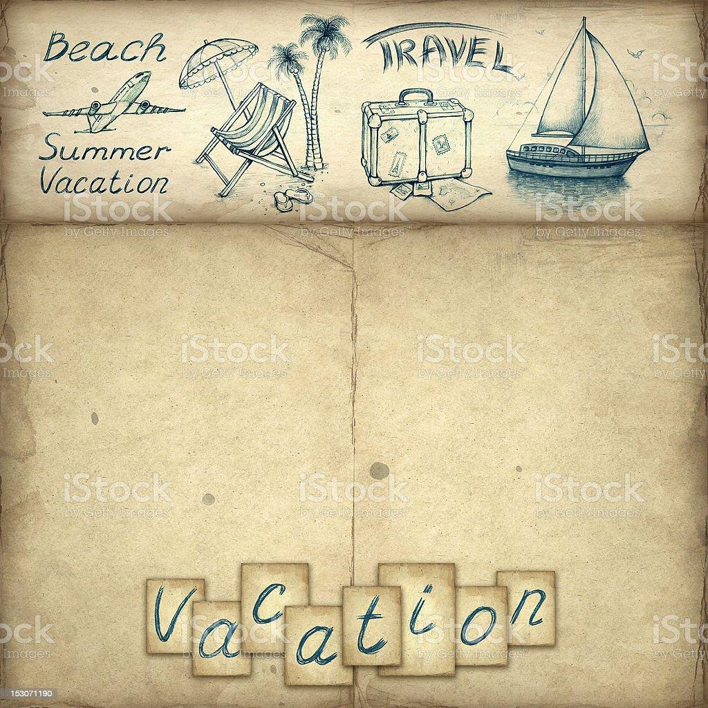 Vacation background royalty-free stock vector art