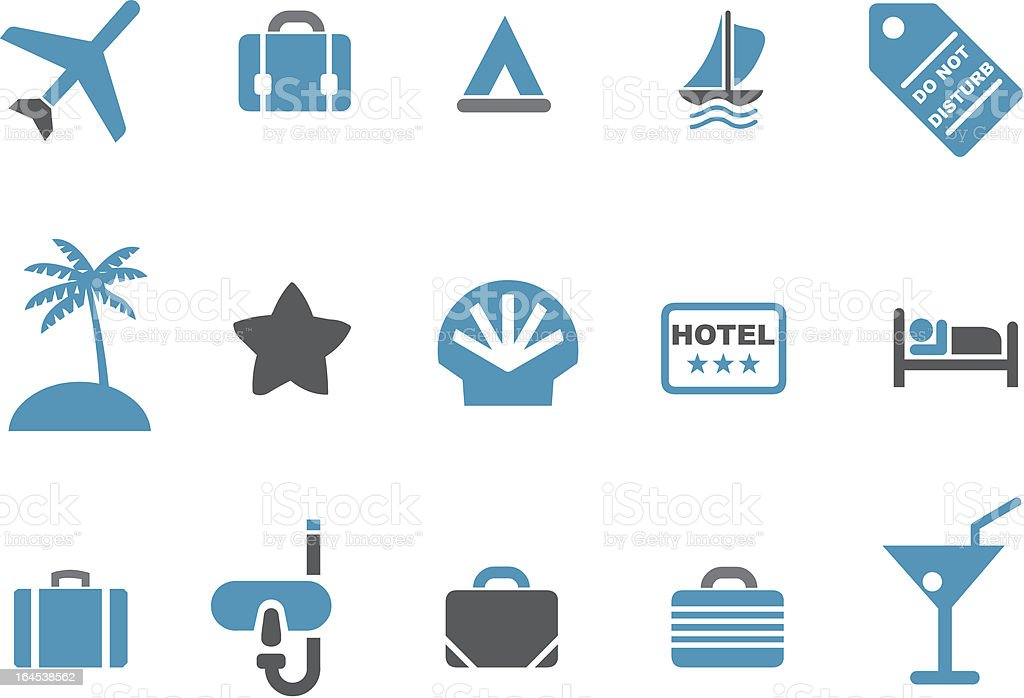 Vacation icon set royalty-free stock vector art