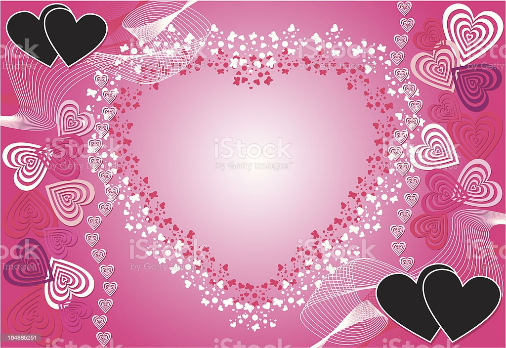 Valentine background, vector royalty-free stock vector art
