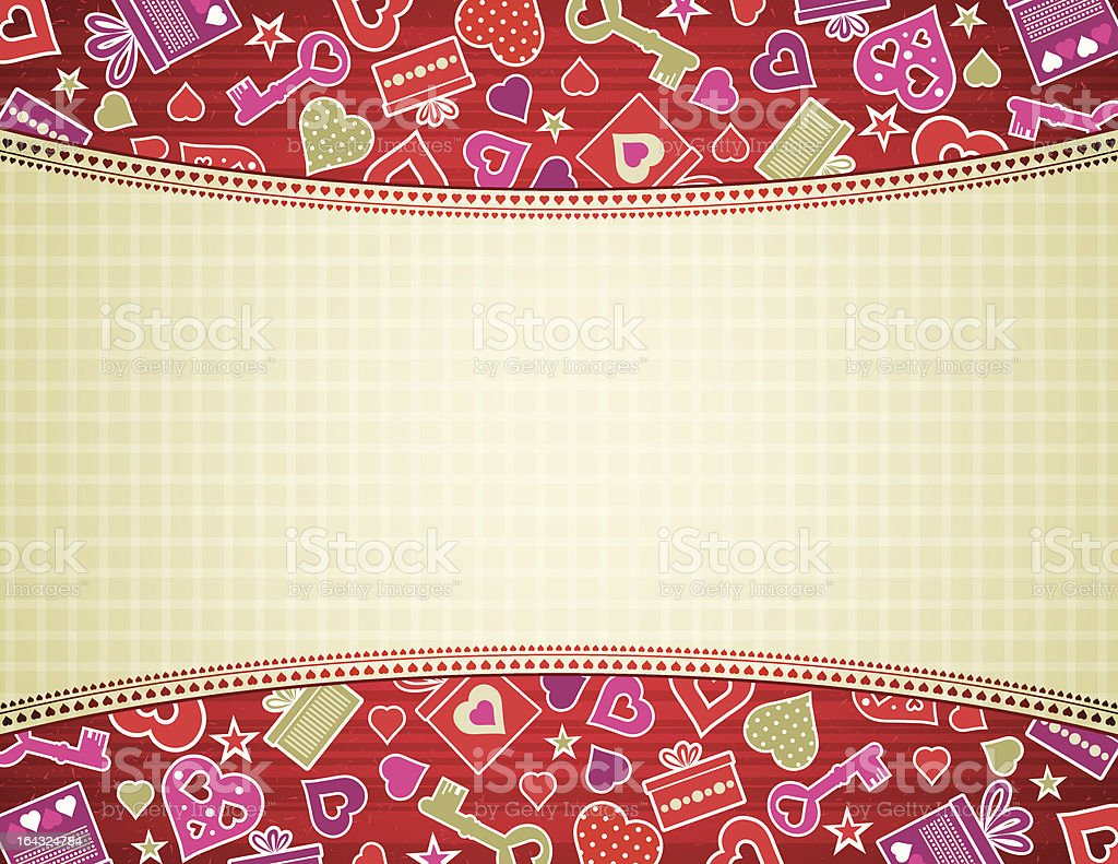 valentine background with hearts and gifts royalty-free stock vector art
