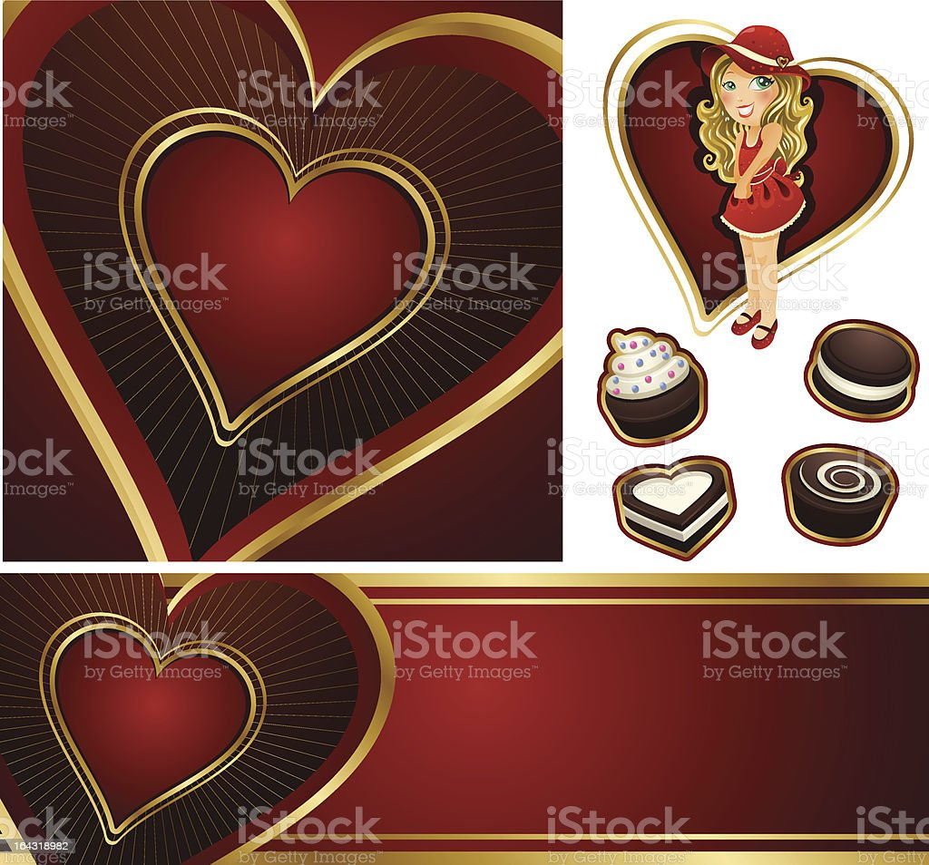 valentine backgrounds and icons royalty-free stock vector art