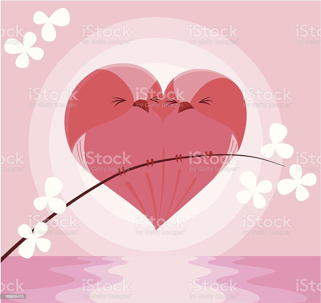 Valentine birds royalty-free stock vector art