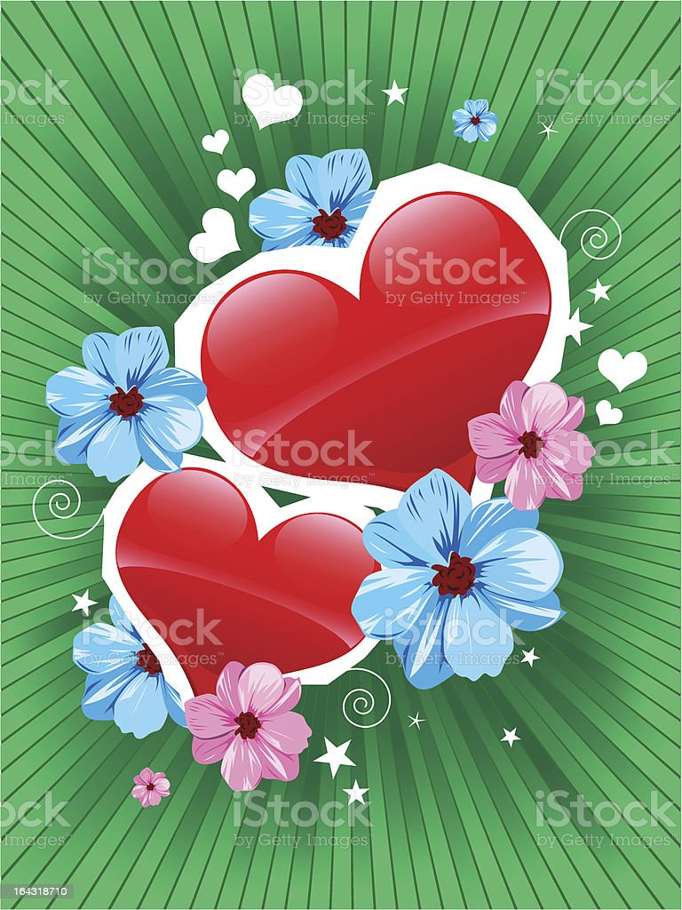 Valentine card royalty-free stock vector art