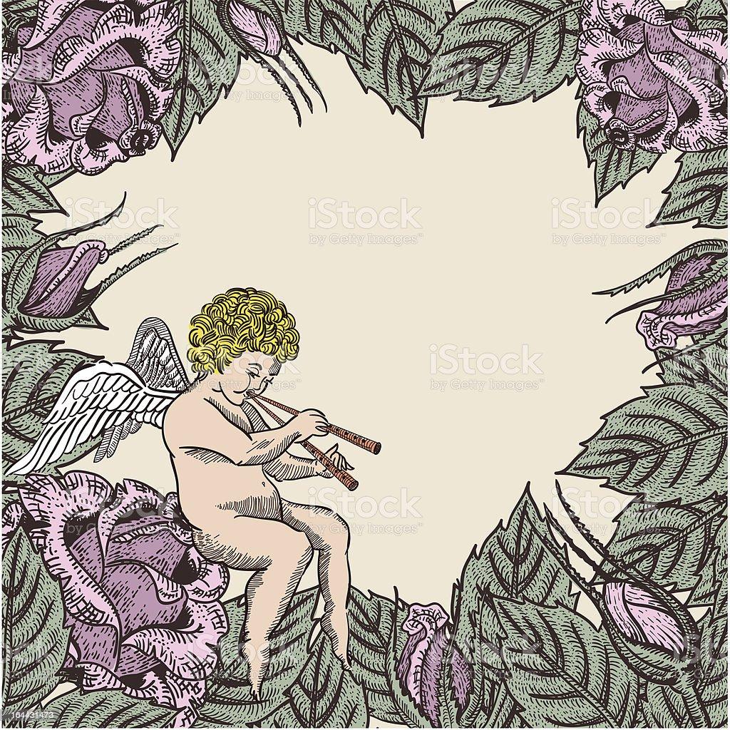 valentine cupid card royalty-free stock vector art