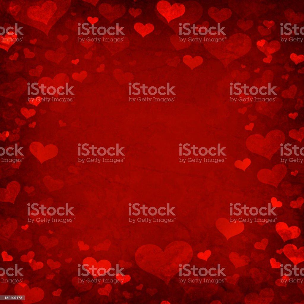 Valentine heart background vector art illustration
