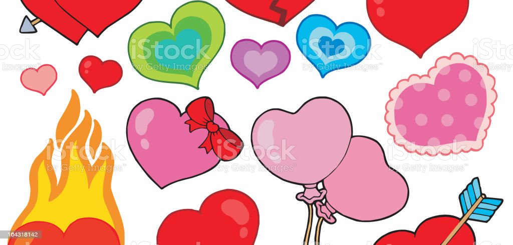 Valentine hearts collection 1 royalty-free stock vector art