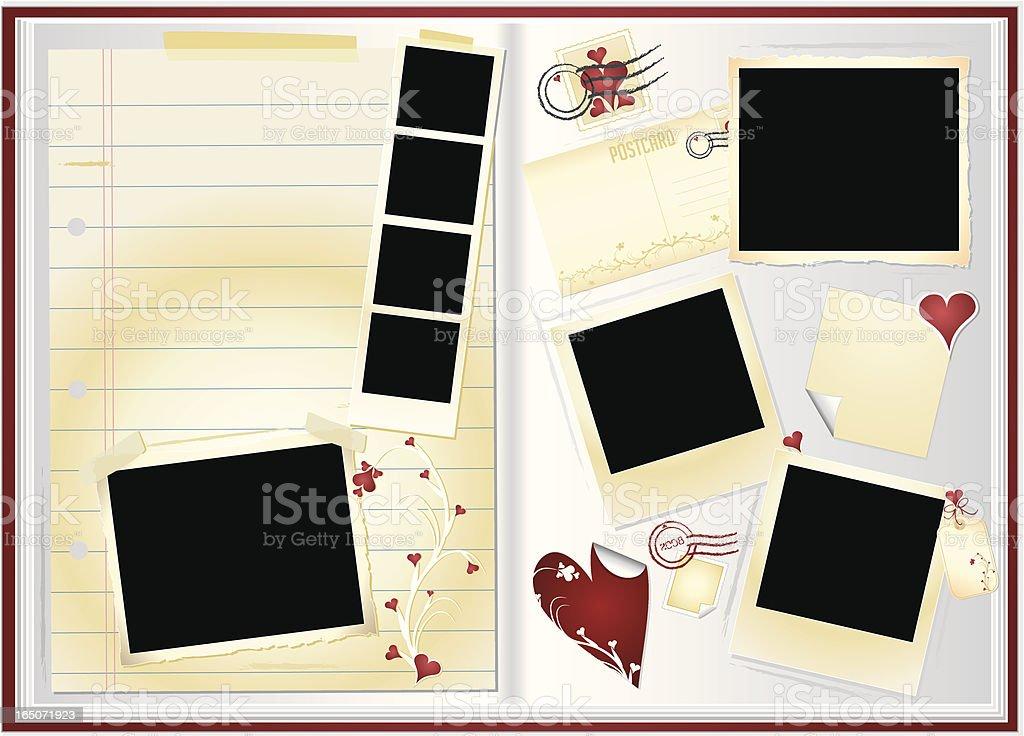 Valentine Memory Book vector art illustration